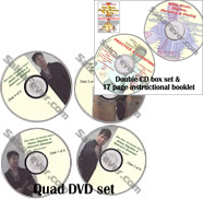 MEGA DEAL Mike Bello Timing & Booklet Double CD Set and Quad DVD Set